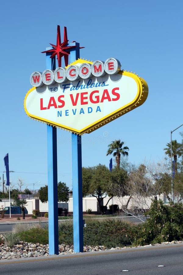 Bienvenue au signe fabuleux de Las Vegas photographie stock libre de droits