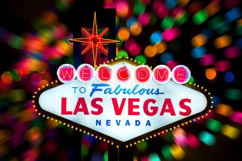 Bienvenue au signe fabuleux de Las Vegas photo stock