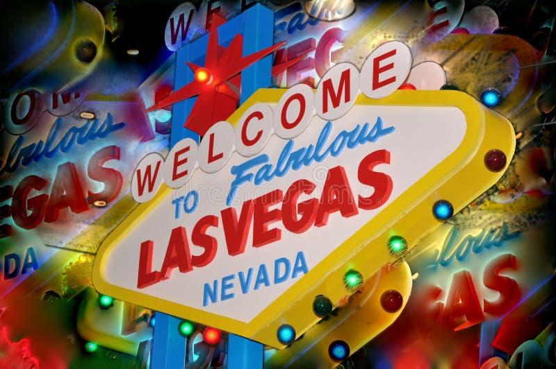 Bienvenue de Las Vegas images libres de droits