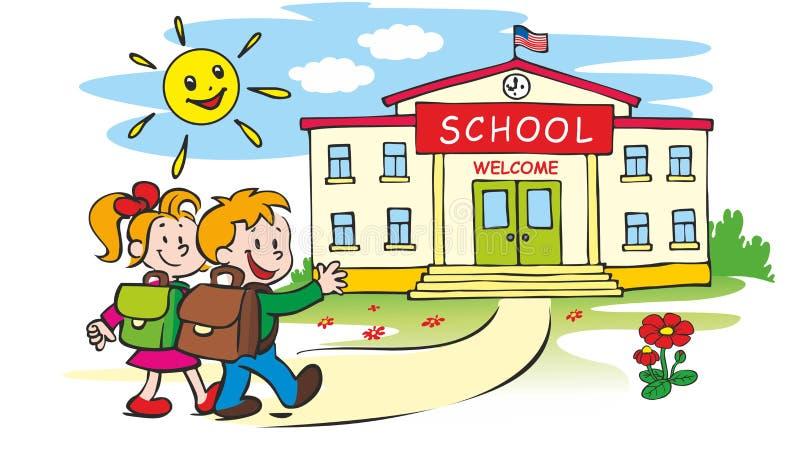 Bienvenue de nouveau à l'école illustration libre de droits