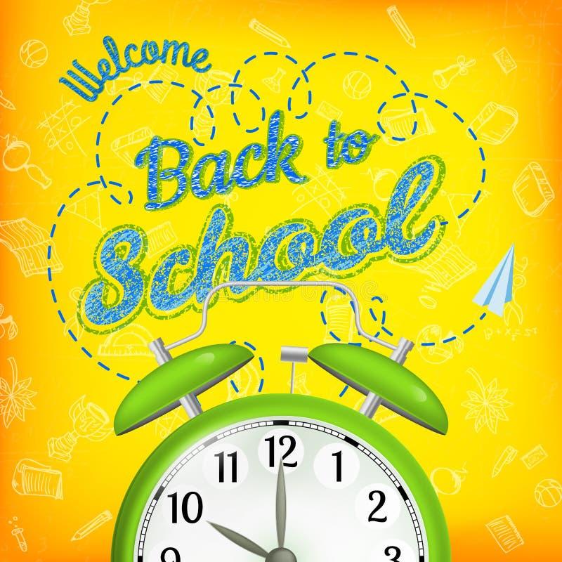 Download Bienvenue De Nouveau à L'école ENV 10 Illustration de Vecteur - Illustration du durée, rétro: 56482538