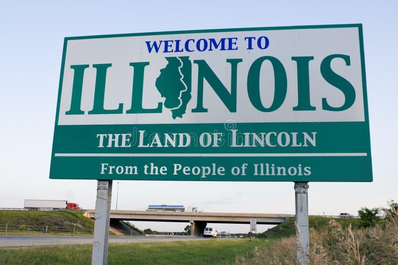 bienvenue de signe de l'Illinois images stock