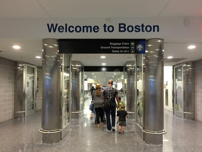 Bienvenue vers Boston photos stock