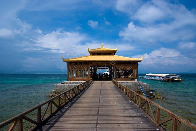 Bienvenue vers l'île de Wuzhizhou photos stock