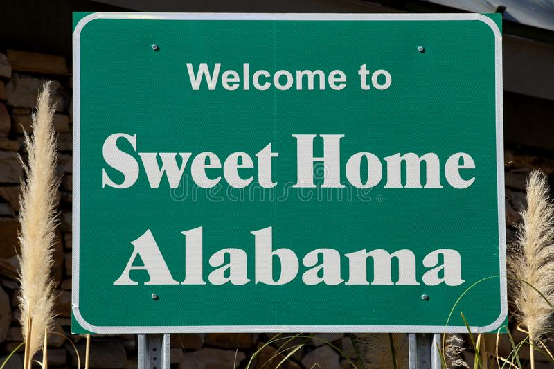 Bienvenue vers l'Alabama images libres de droits