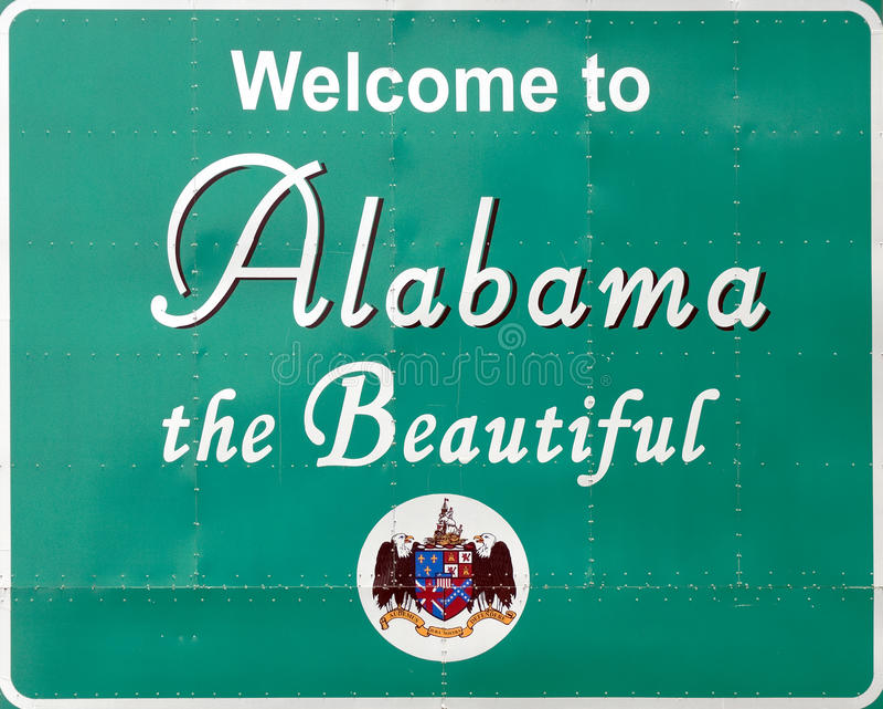 Bienvenue vers l'Alabama photos stock