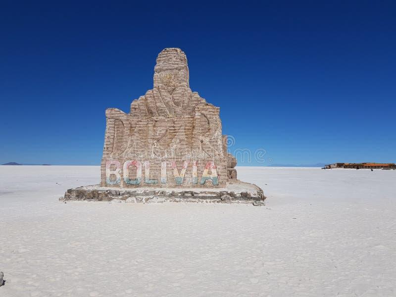 Bienvenue vers la Bolivie photos stock