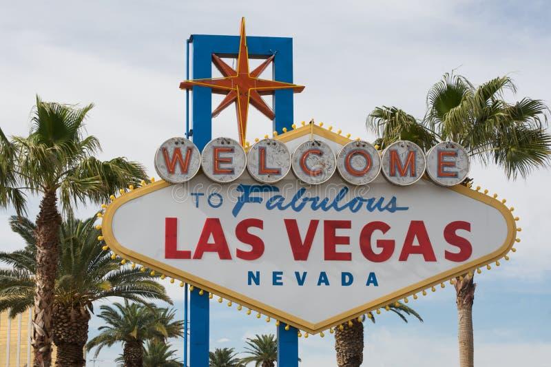 Bienvenue vers Las Vegas photographie stock libre de droits