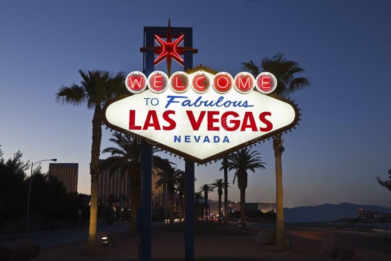 Bienvenue vers Las Vegas fabuleuse images stock