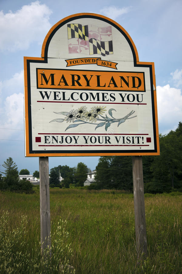 Bienvenue vers le Maryland photos stock