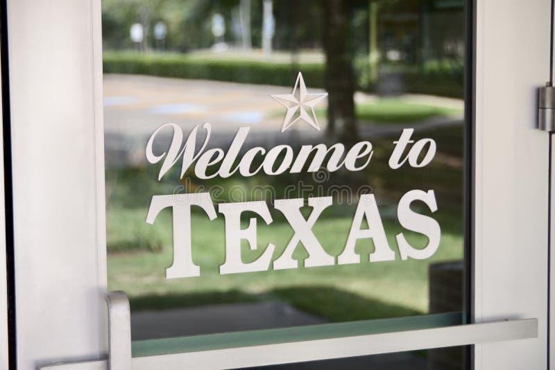 Bienvenue vers le Texas photos libres de droits