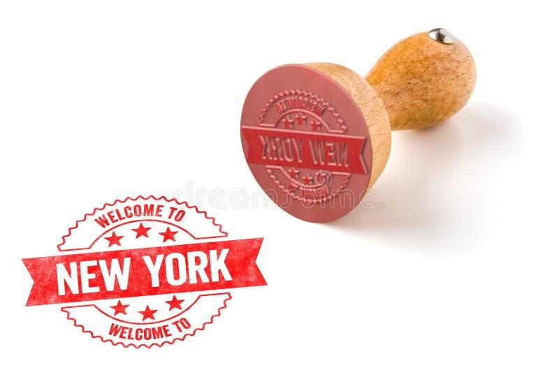 Bienvenue vers New York photographie stock libre de droits