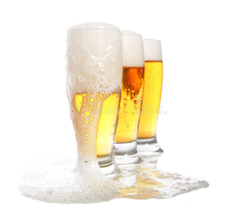 Bierüberfluß lizenzfreies stockbild