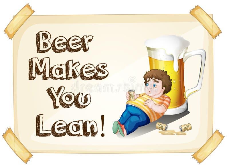 Bier stock illustratie