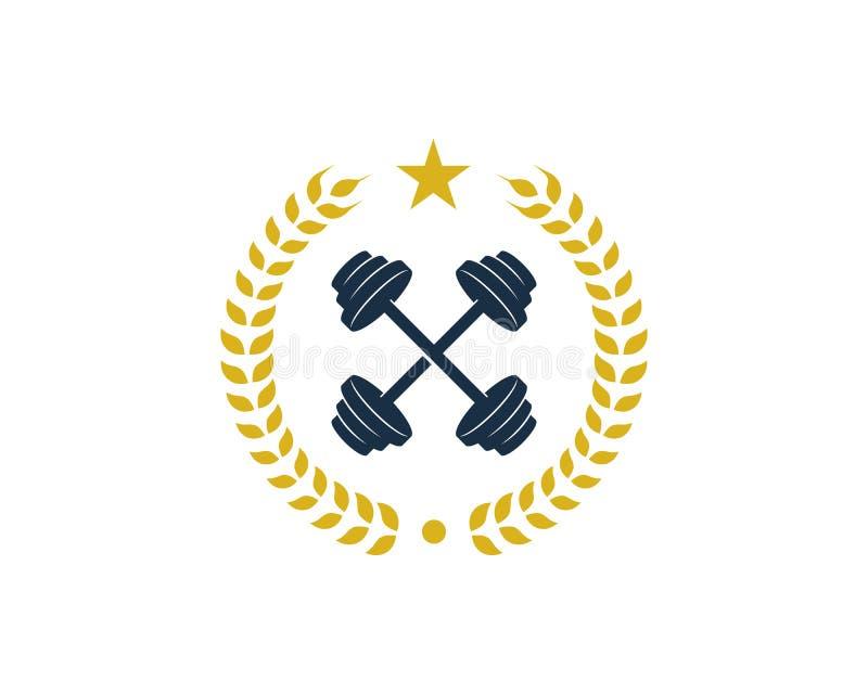 Bier Barbell Logo Icon Design vector illustratie