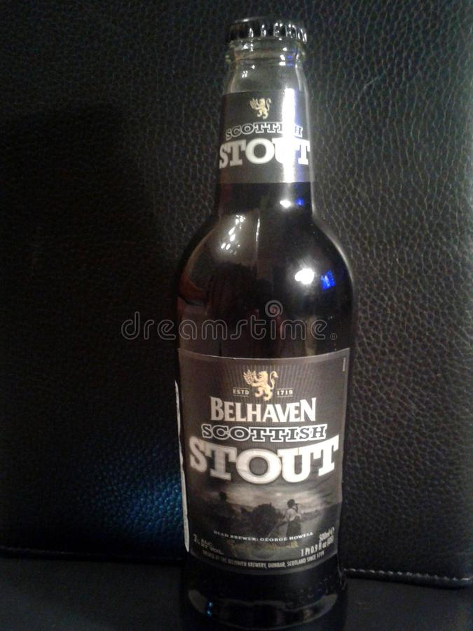 Bier Belhaven, schottischer Stout lizenzfreie stockbilder