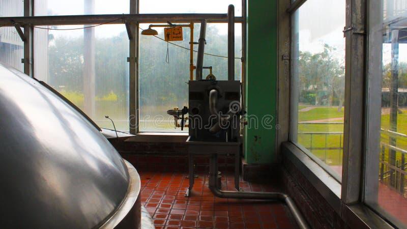 Bier-Brauerei-Betriebs-Prozess Haupt-Control Center stockbild