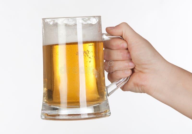 Bier in einem Glasglas lizenzfreies stockfoto