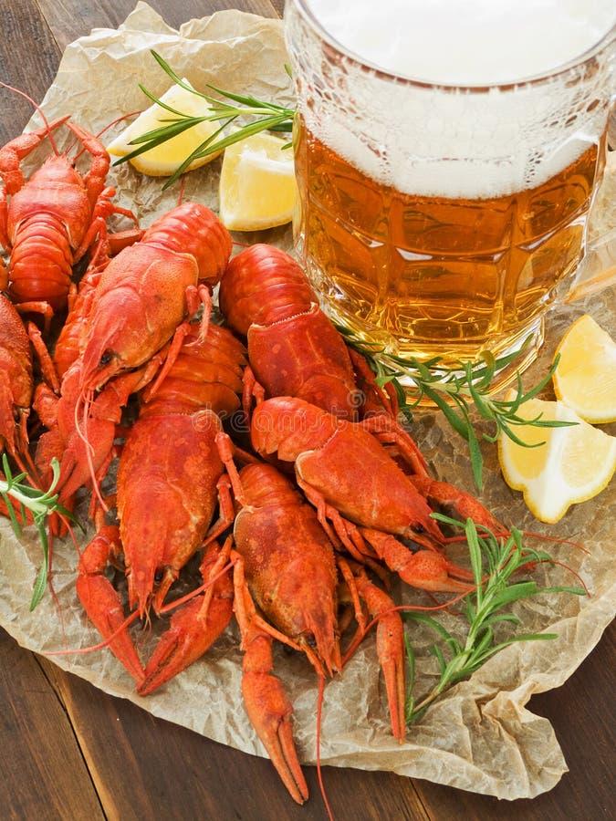 Bier en snacks royalty-vrije stock fotografie