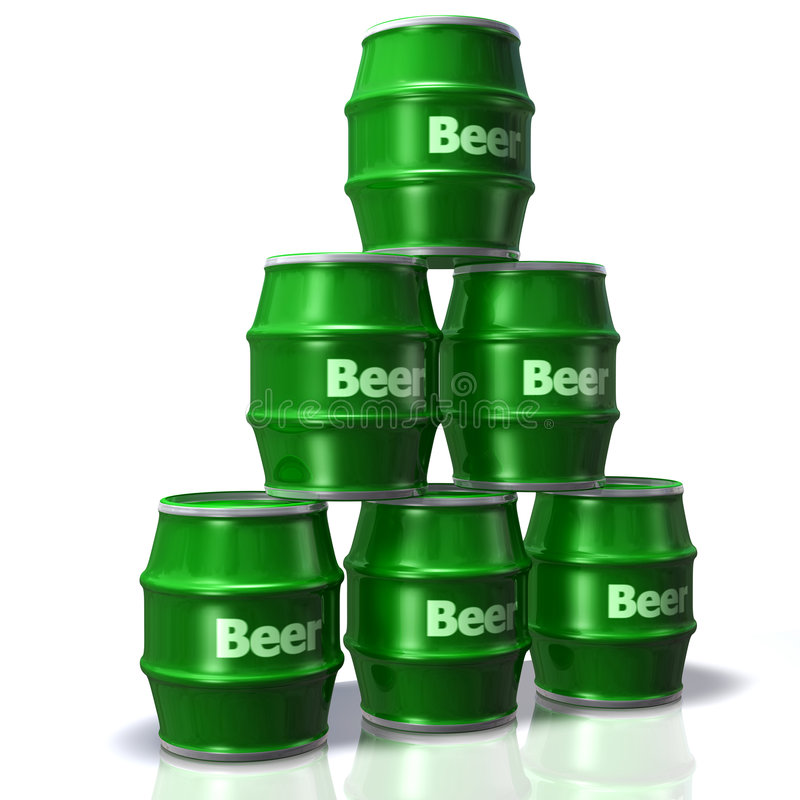 Bier-Fässer lizenzfreie abbildung