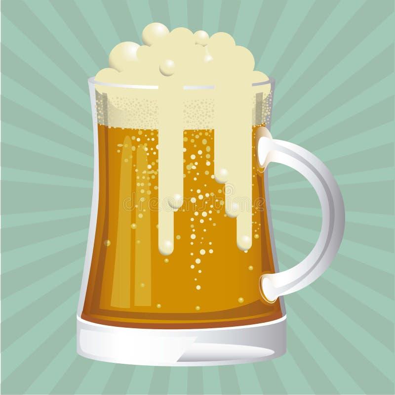 Bier geben Aufkleber frei lizenzfreie abbildung