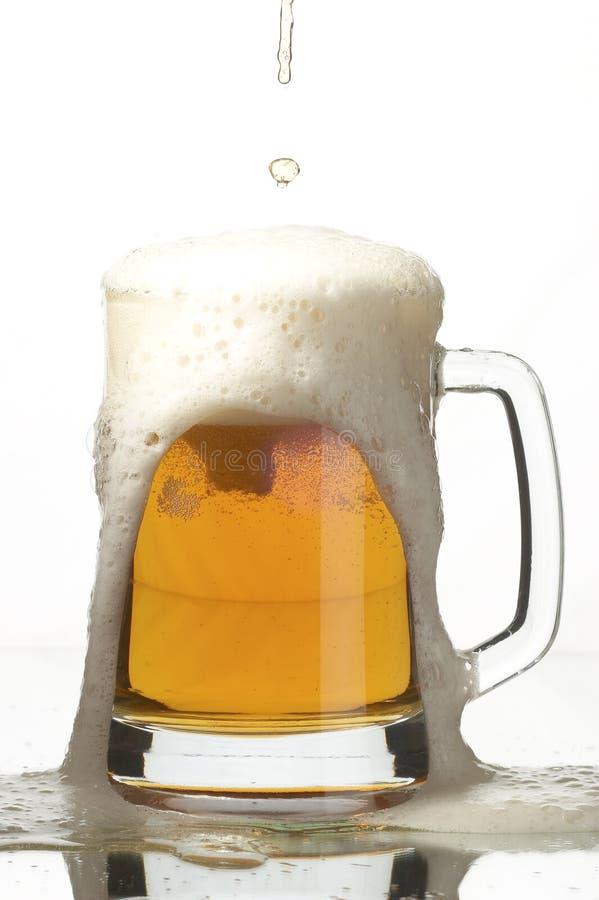 Bier in glas royalty-vrije stock afbeelding