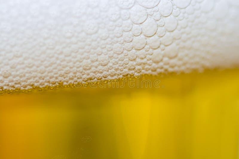 Bier in glas royalty-vrije stock foto