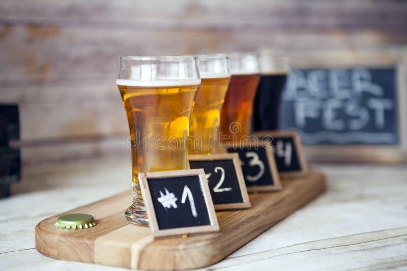 Bier het Proeven stock fotografie