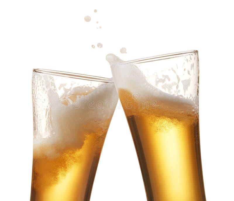 Bier het roosteren stock afbeelding