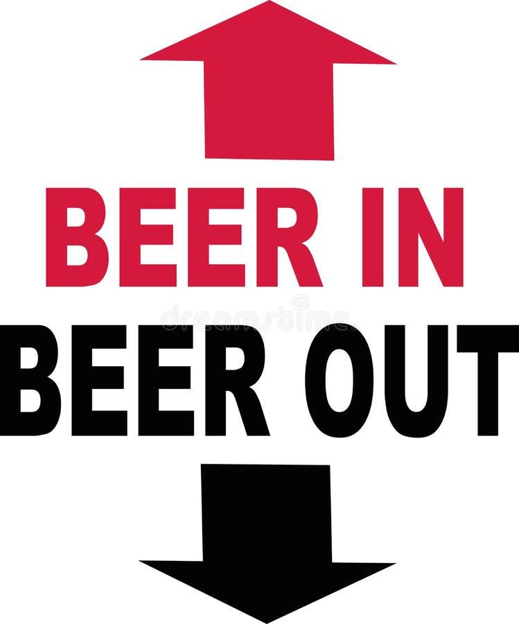 Bier im Bier heraus lizenzfreie abbildung