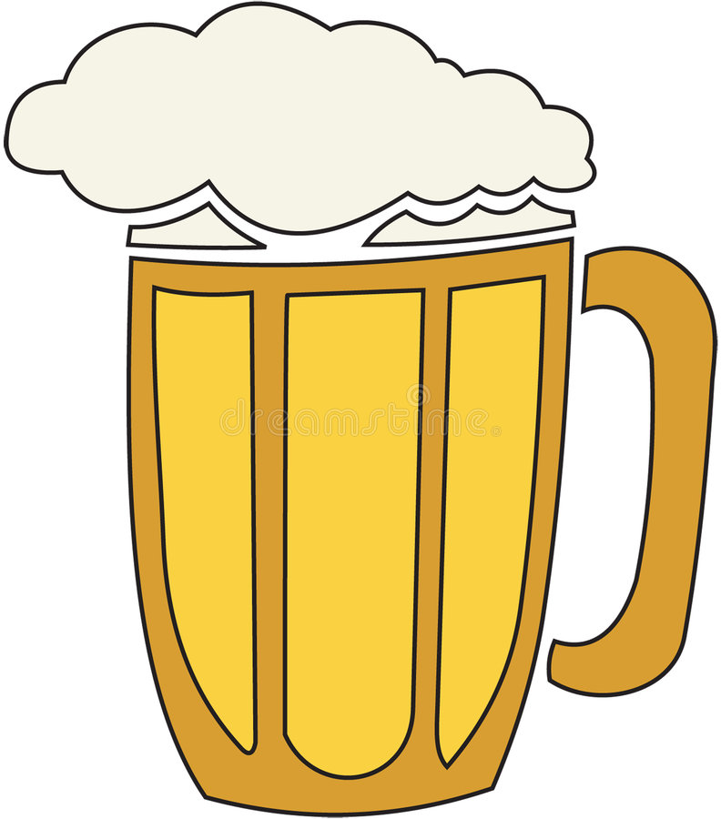 Bier-knippende weg vector illustratie