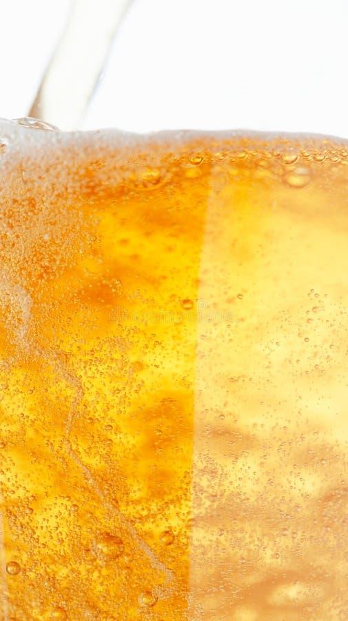 Bier-Luftblasen. lizenzfreies stockfoto