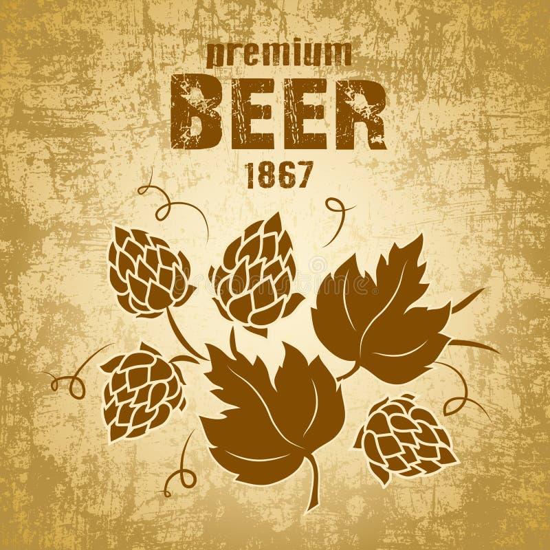 Bier met hop stock illustratie