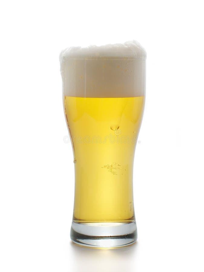 Bier met schuim royalty-vrije stock fotografie