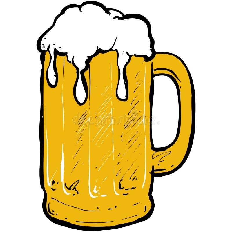 Bier mit Schaumgummi lizenzfreie abbildung