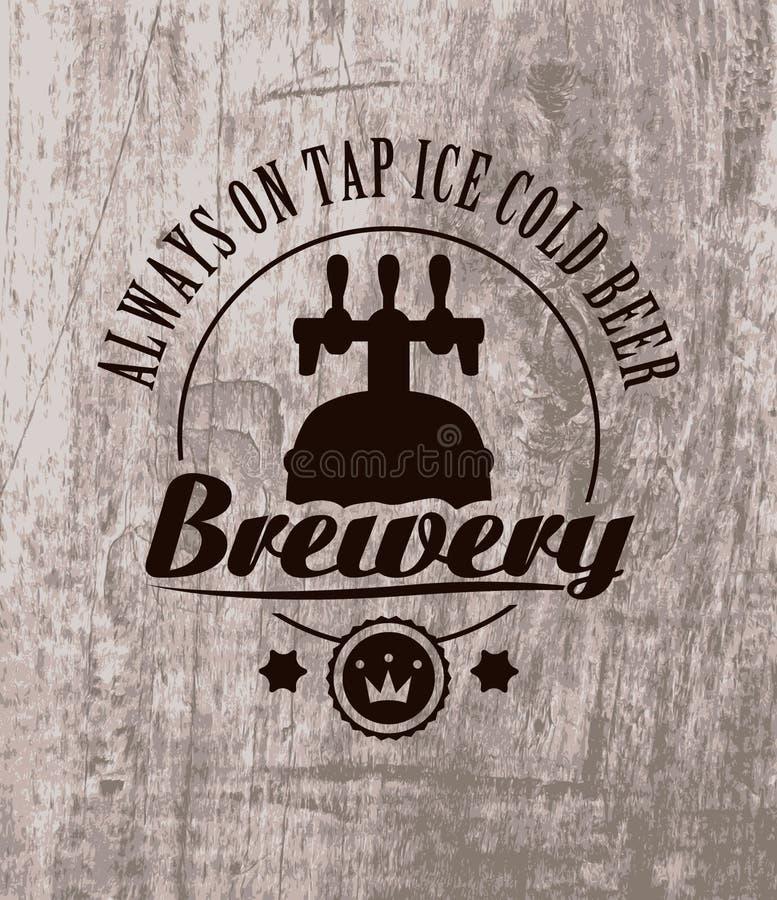 Bier op houten royalty-vrije illustratie