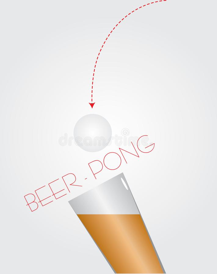 Bier - pingpong royalty-vrije illustratie