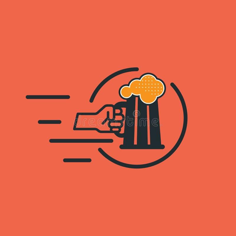 Bier-Plakat stock abbildung