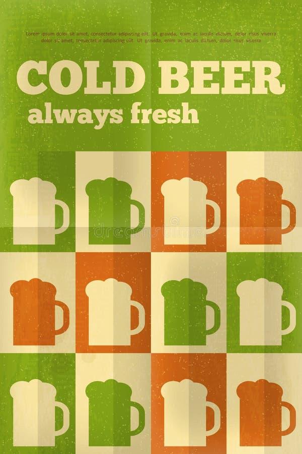 Bier-Poster lizenzfreie abbildung