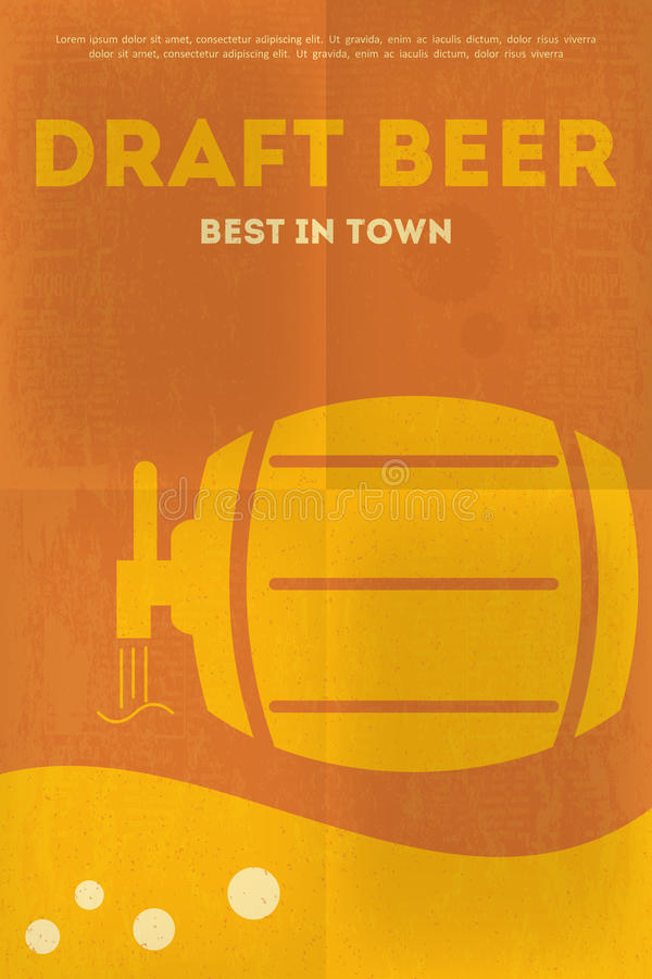 Bier-Poster vektor abbildung