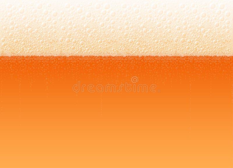 Bier-Schaum-Blasen-Hintergrund-realistisches kaltes rotes Getränk vektor abbildung