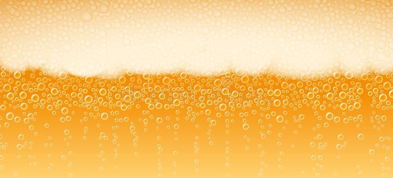 Bier-Schaum-Hintergrund Lager Light Bitter lizenzfreie abbildung