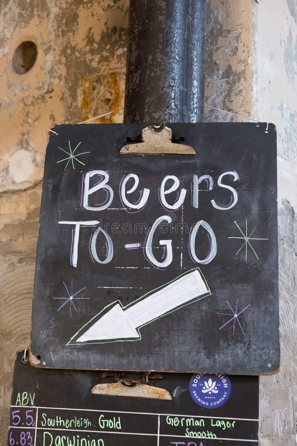 Bier Southerleigh Brewing Company lizenzfreie stockfotos