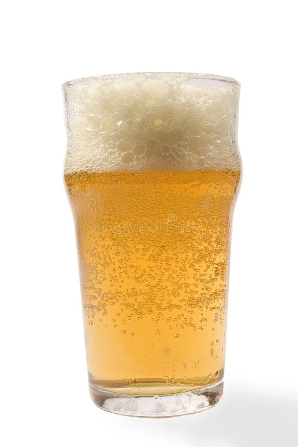 Bier und Luftblasen stockfotos