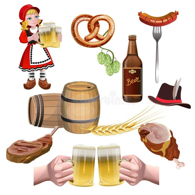 Bier vastgestelde vector stock illustratie