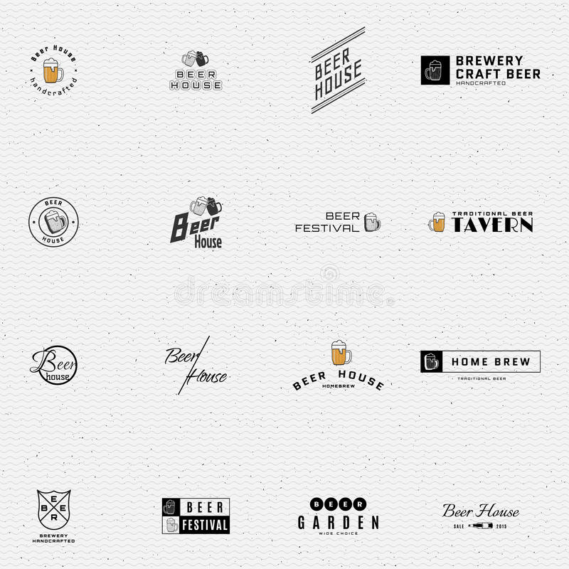 Bier wird Logos und Aufkleber für irgendwelche Gebrauch deutlich vektor abbildung
