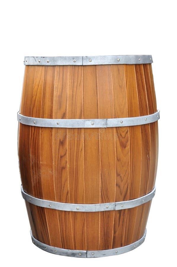 Bier-zylinderförmiges lokalisiert mit Beschneidungspfad. stockbild
