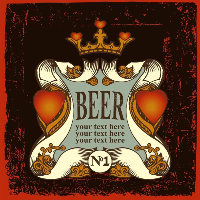 Bieretiket voor bierhuisrestaurant vector illustratie