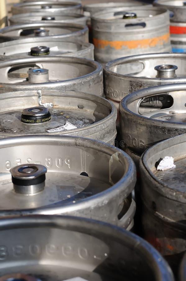Bierfässer stockbild