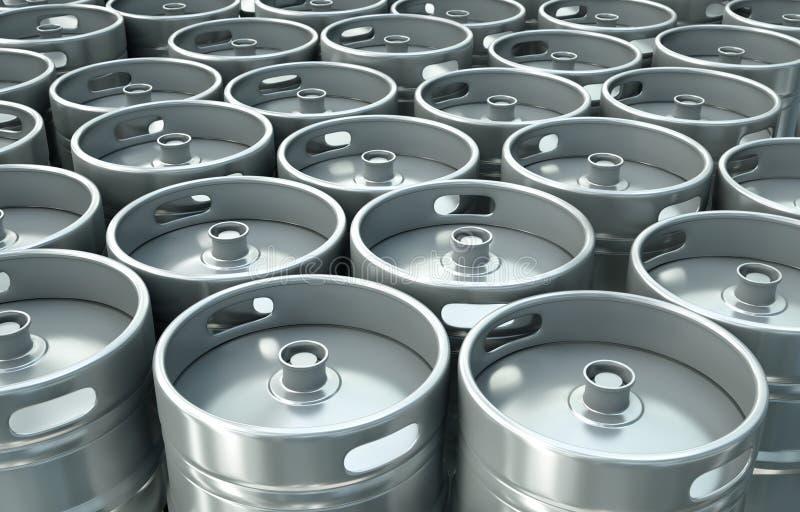 Bierfässer stock abbildung